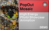 photo mosaic pop-out animation demo