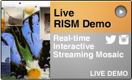 real-time photo mosaic event demo
